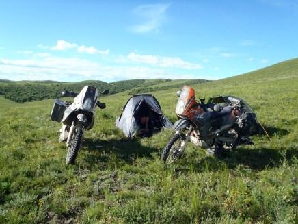 1st campsite in Mongolia.