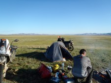Early morning at 3rd campsite in Mongolia.