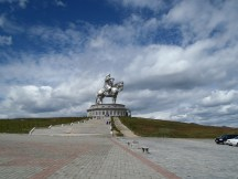 About 40kms East of Ulan Bator is a massive stainless steel monument of Gengis Khan
