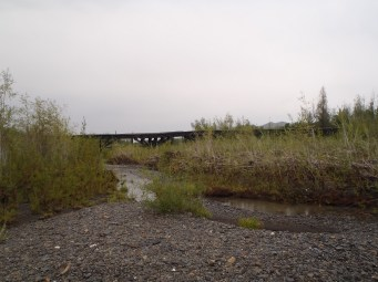 Old summer road bridge
