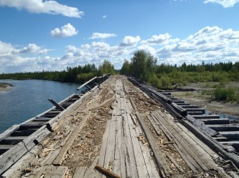 Old summer road bridge