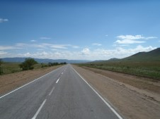 Road to Mongolian boarder from Ulan Ude.