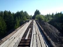 Start of the Vitim bridge on the east side.