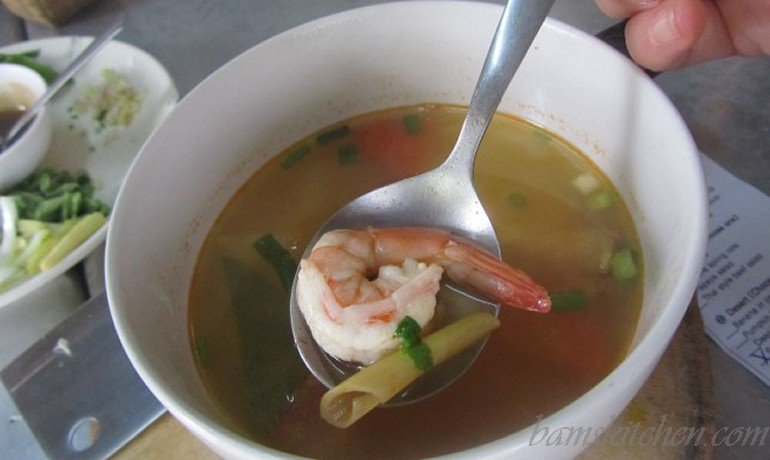 Turn up the heat hot and sour prawn soup