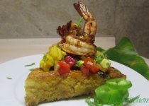 Jalapeño Cornbread with BBQ Cajun Lime Shrimp and Pineapple Corn Salsa