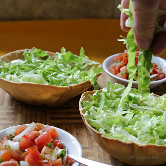 Chili Taco Salad Bowls-Bam's Kitchen