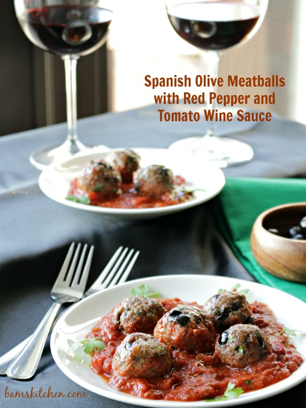 Spanish Olive Meatballs- Bam's Kitchen