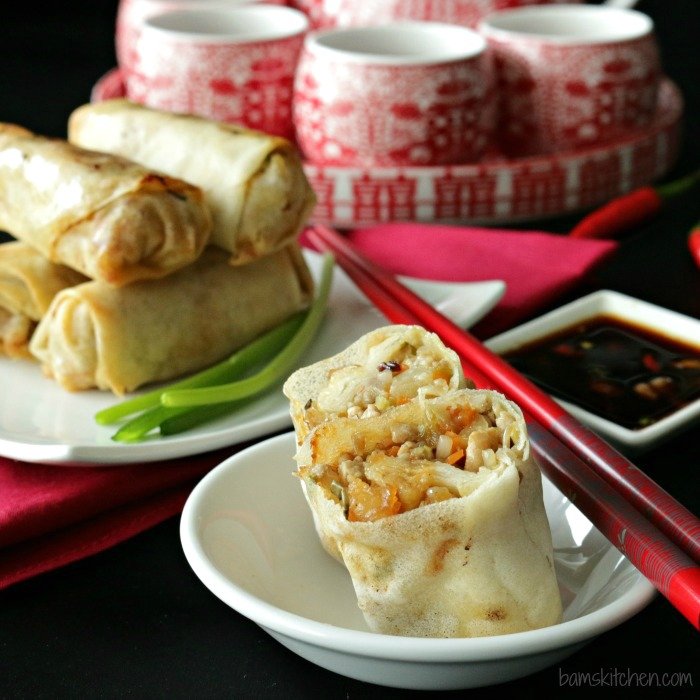 Baked Chinese Spring Rolls- Bam's Kitchen