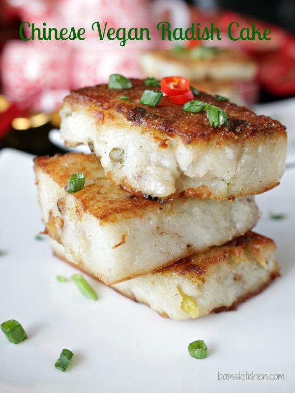 Chinese Vegan Radish Cake / http//bamskitchen.com