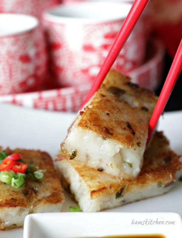 Bam S Kitchen Chinese Vegan Radish Cake Bam S Kitchen