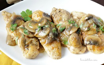 Mushroom Chicken with Brandy Sauce / http://bamskitchen.com