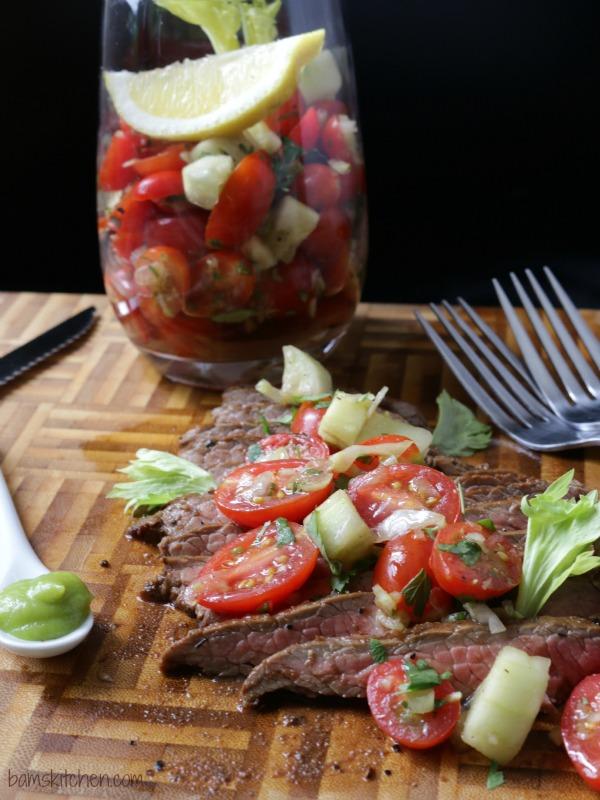 Bam's Kitchen - Wasabi Bloody MARRIED Flank Steak - Bam's Kitchen