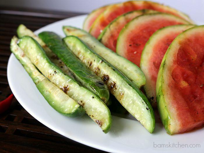 Thai Grilled Watermelon Salad / http://bamskitchen.com