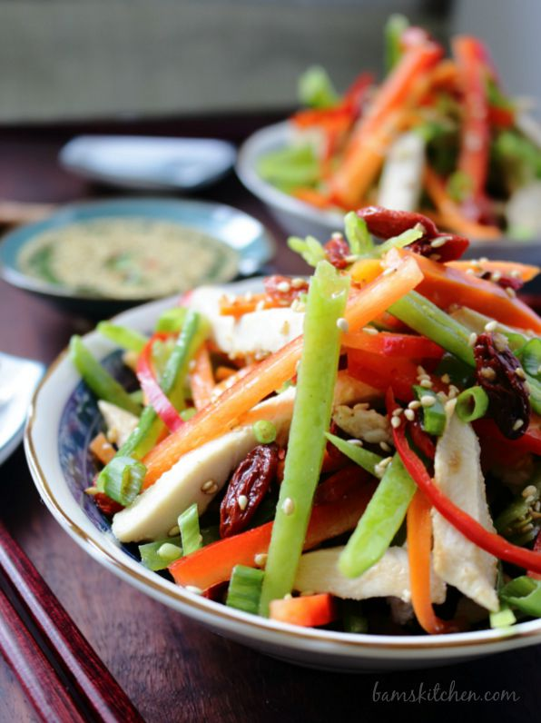 Chinese Salad with Goji Berries / http://bamskitchen.com