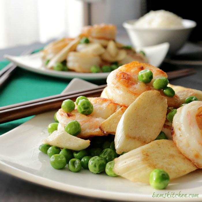 Shrimp and Wild Stem Stir Fry / http://bamskitchen.com