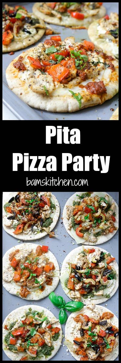 DIY Pita Pizza Party/ http://bamskitchen.com