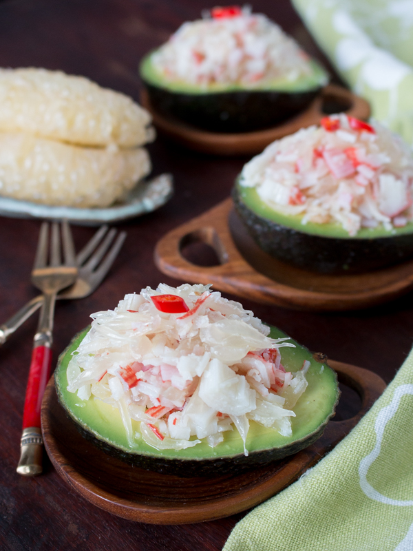Thai Pomelo Crab Salad Avocado / http://bamskitchen.com