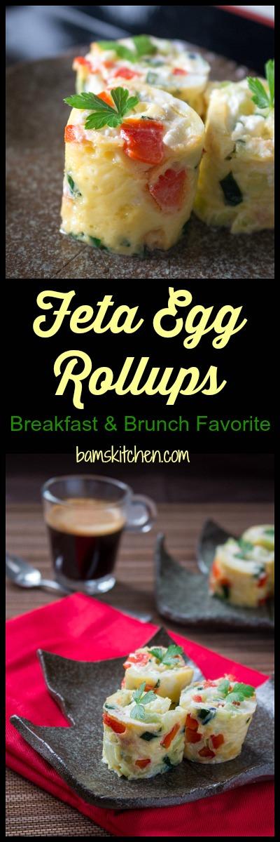 Feta Egg Rollups / http://bamskitchen.com