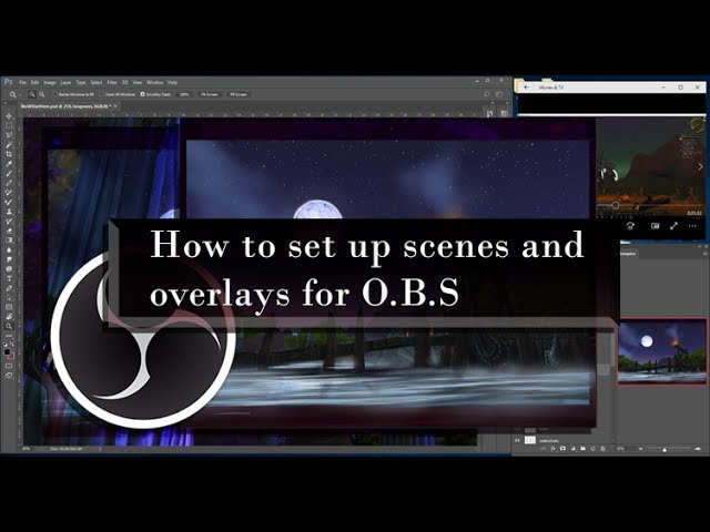 How to set up scenes and overlays for OBS