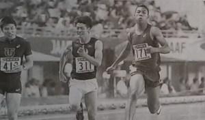 日本選手権男子100メートルで1位となったサニブラウン(右)の写真