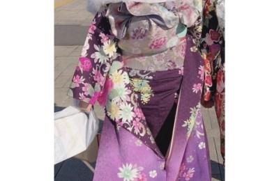 新橋いちゃキャバ・JK制服キャバクラ【ハイスクールbanana】 りか 成人式着物