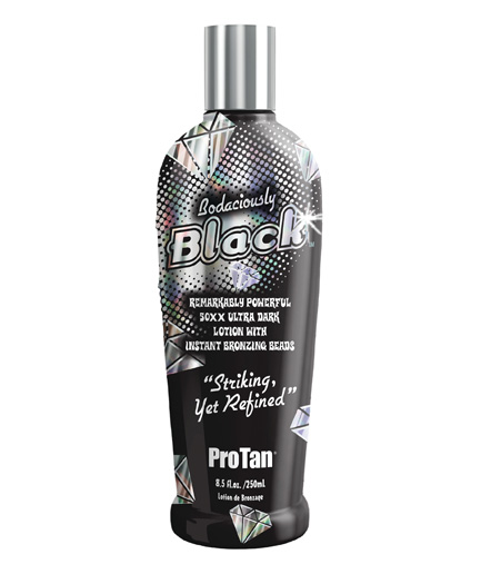 bodaciously-black ultra dark tanning lotion with instant bronzers from pro tan