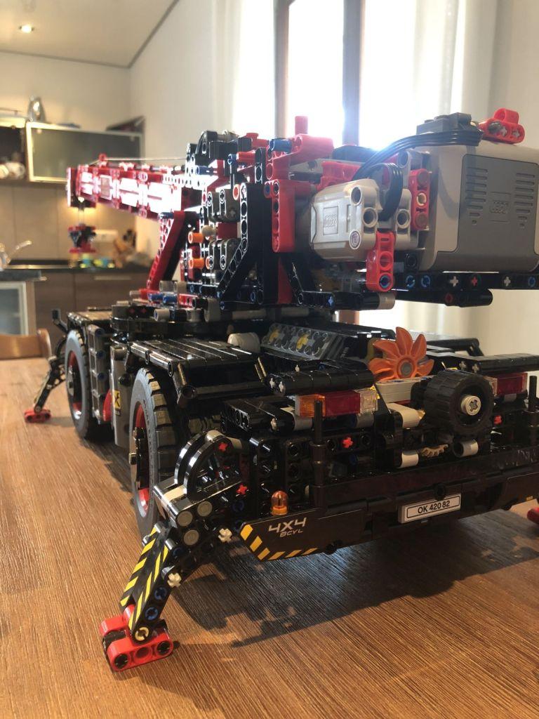 Ruff Terrain Crane oberes Getriebe mit ausleger montiert