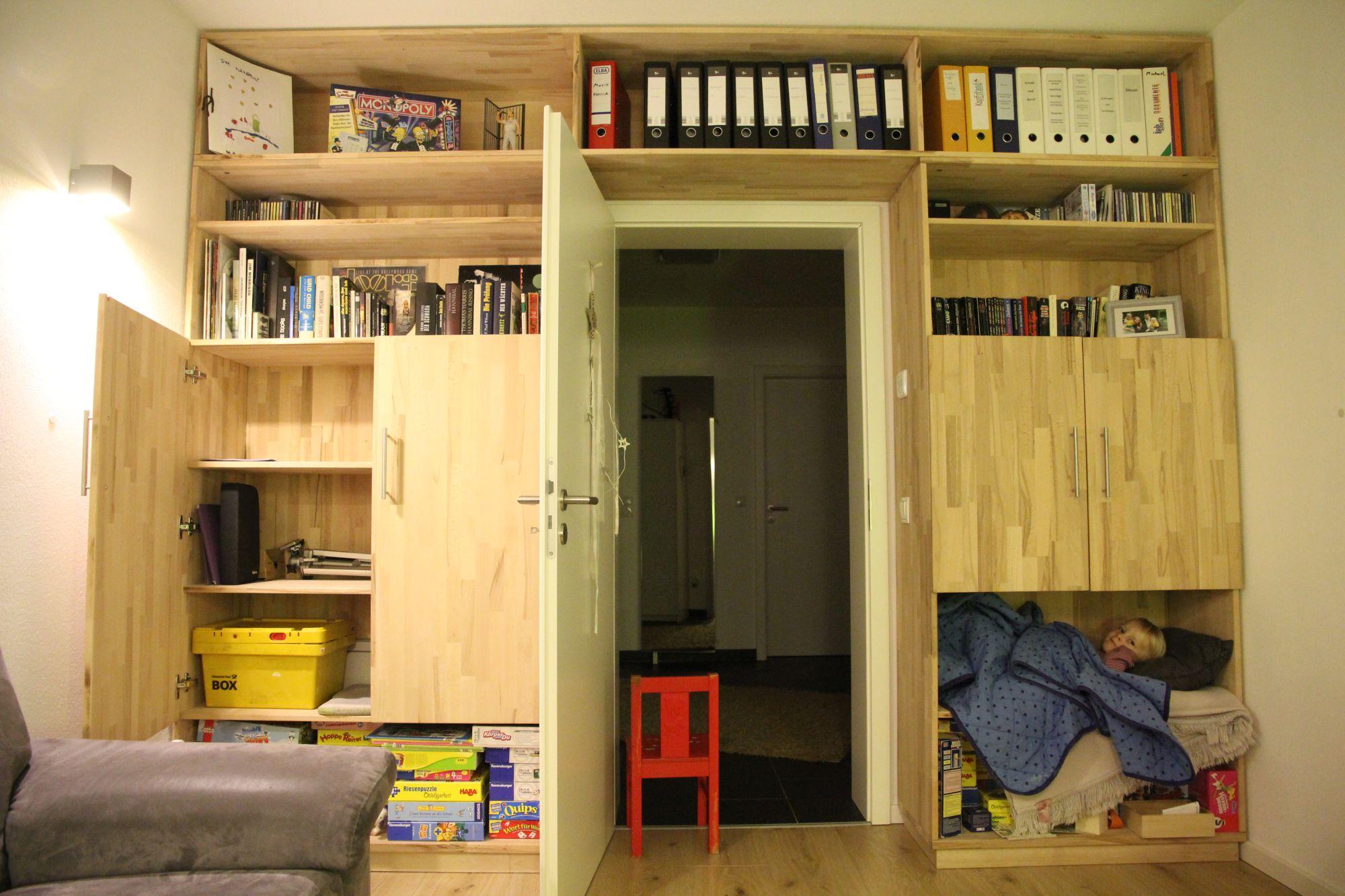Büroschrank selber bauen, fertig