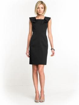 Women: Origami sheath dress - Black