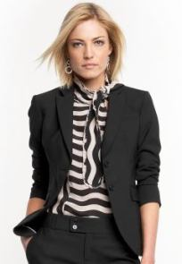 Women's tall: Tall lightweight wool blazer - Black