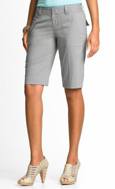 Banana Republic Check Bermuda tall shorts