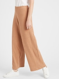 View large product image 1 of 3. Petite Wide-Leg Cozy Knit Pant