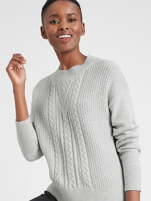 Chunky Cable Crew-Neck Sweater
