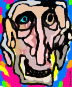 """Vecchio rimbambito"" - (b)ananartista orgasmo Sbuff - digital art"