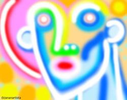 """MI DENUDO !"" - (b)ananartista orgasmo Sbuff - digital art - www.bananartista.com"
