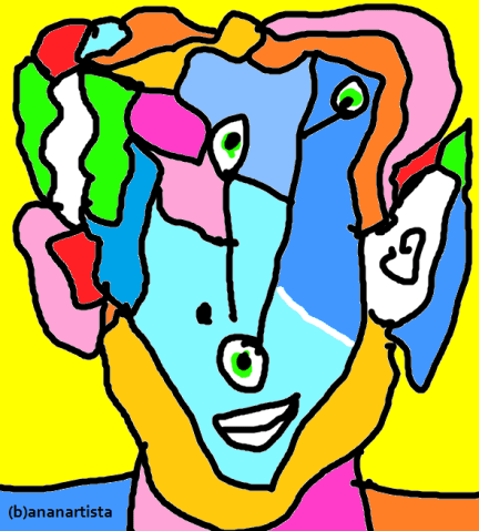 """TI OCCUPO LA CASA"" - (b)ananartista orgasmo Sbuff - digital art - www.bananartista.com"