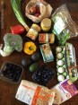 Week's groceries for easy recipes
