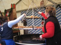 Hot dog stand. I should have tried the saucisse de Toulouse, it looked quite intriguing.