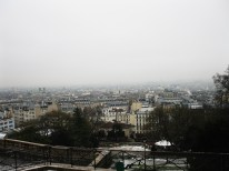 Looking at the city of Paris from its highest point, though on a slightly foggy day, visibility was greatly compromised.