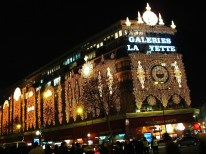 Galeries Lafayette, a department store with stunning lights. Kind of lame that the 'FA' weren't lit though...