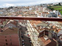 Nice view of the houses packed in Lisbon - would have been better without the bars in the way though.