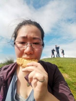 Cookie selfie at the summit!