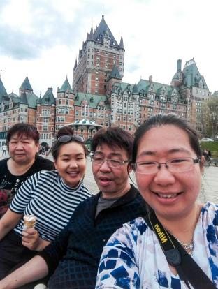 With the family in Quebec City!