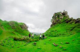 Descending from Castle Ewen in the Fairy Glen