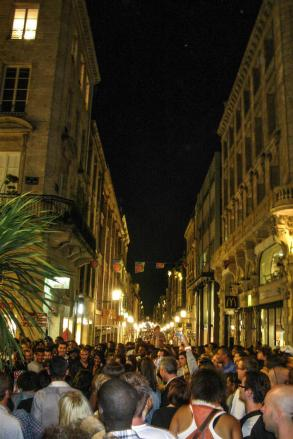 Crowd in Bordeaux during the music festival