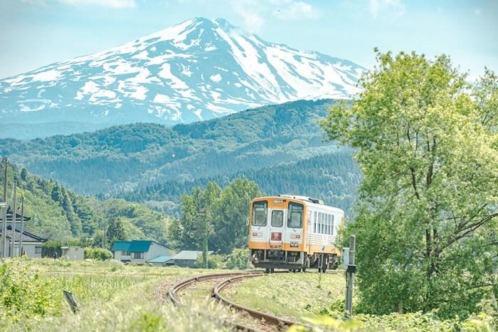 秋田自由行:由利高原鐵道列車和鳥海山富士的感動美景,一日拍攝推薦景點(附地圖座標、時刻表