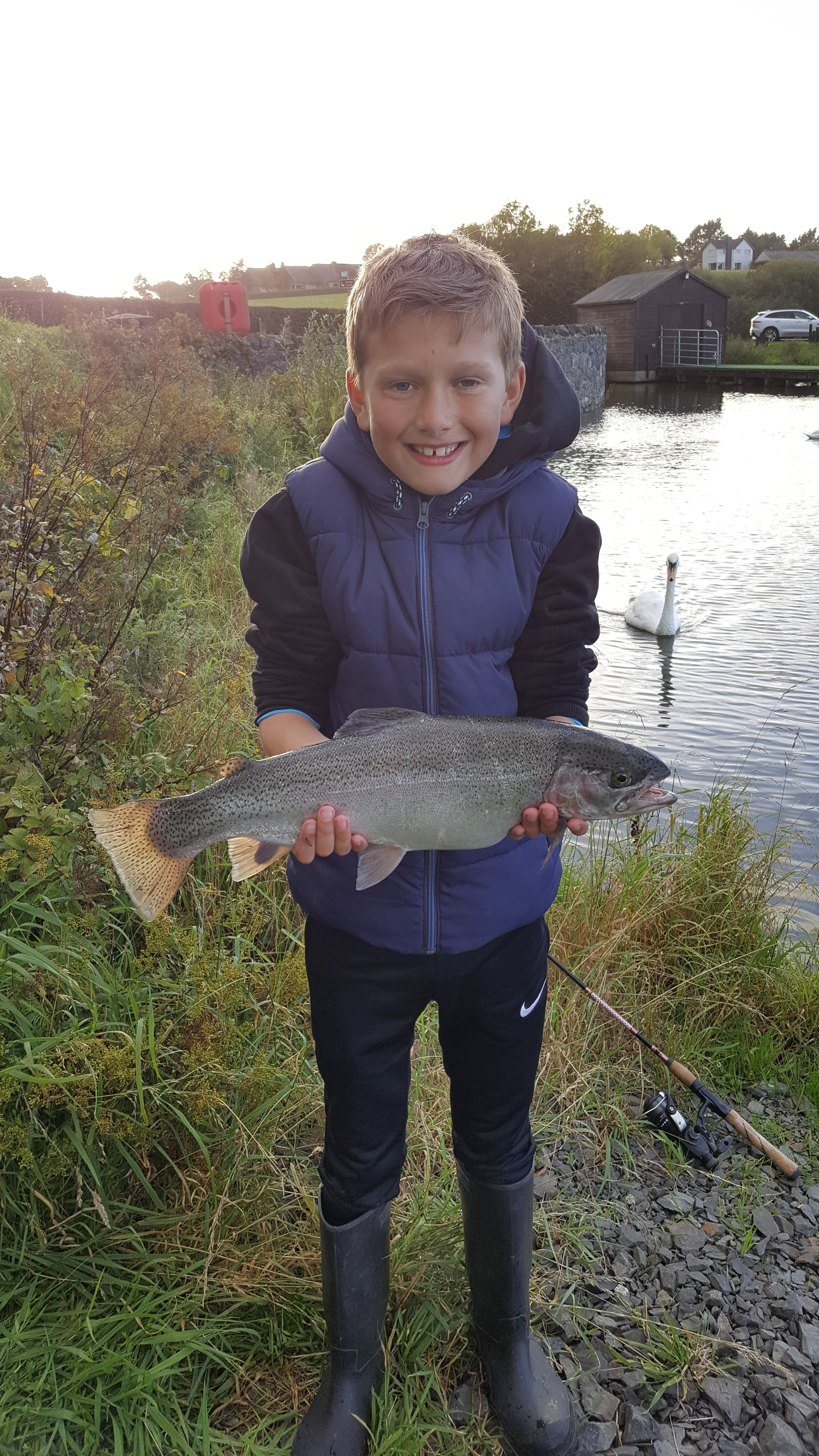 BAC Juvenile angler with a Rainbow of 3lbs 12ozs caught at Corbet Lough on 1 October 2017