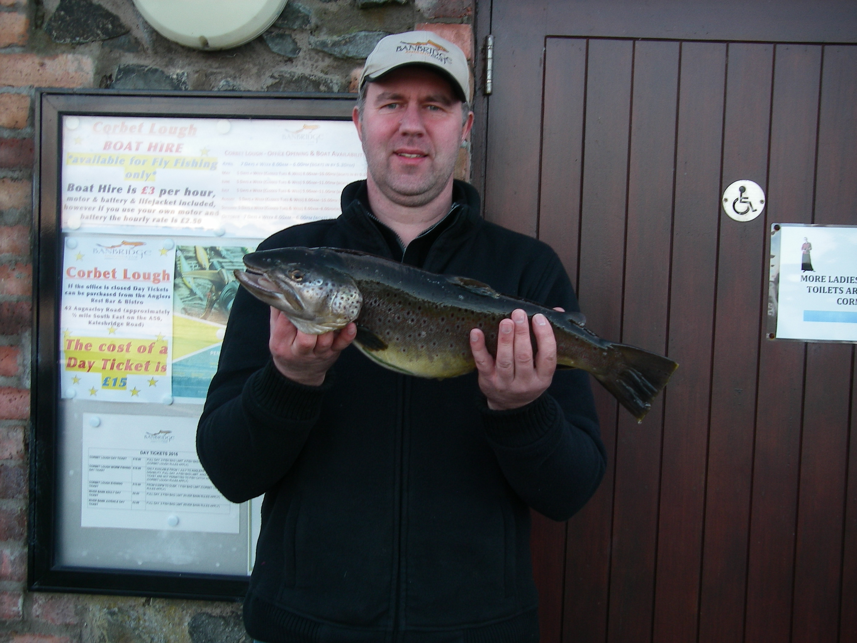 BAC Bobby Blakley Cup 4 March 2017 - Roger McClements winner with Brown Trout 5lbs 8ozs taken on the fly