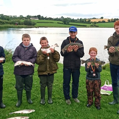 BAC Corbet Lough 1 July 2017 - Martin Dynes Trophy competition - Junior anglers and their fish