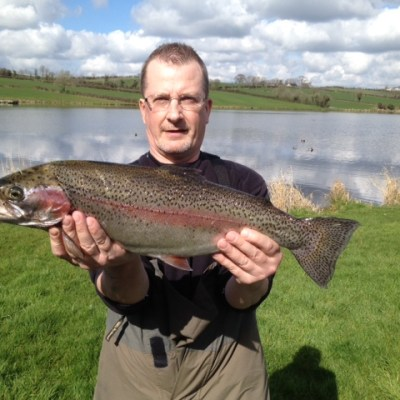 BAC Corbet Lough Rainbow Trout caught by Gerard Lyness 1 April 2014